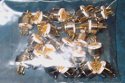 20Pc Chassis Mount Precision 10K Ohm Trimmer Lot - Gold Plated J Lead