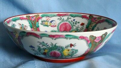 Beautifully decorated oriental china bowl