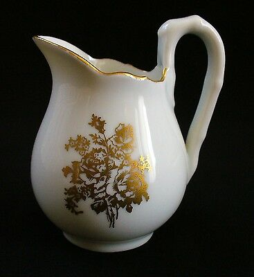 """Collectible~3"""" MINI~Small~LIMOGES~Haviland~FRANCE~Pitcher~Creamer~GOLD Detail~NR"""