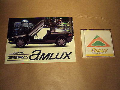 Toyota Sera Amlux - Fold Out Brochure & Cd - Exy10 Rare - Free Uk Postage