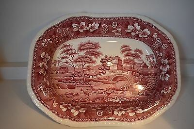 Copeland Spode's Tower Pink Open Vegetable Bowl (Old Mark 1920's)