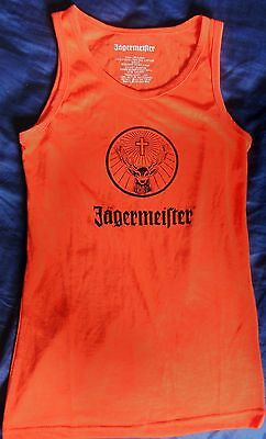 Jagermeister Ladies Promo Tank Top - Bright Orange - Small - ..NEW