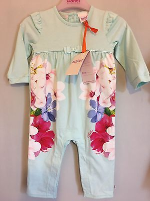 New Baby Girls Designer Ted Baker Mint Floral Print Sleepsuit 6-9m🎀