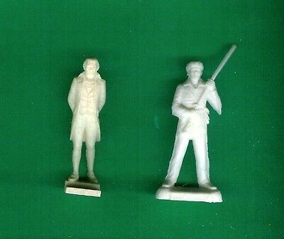 2 Nabisco Cereal Premiums '60S Nathan Hale+Davy Crockett American Heroes Playset