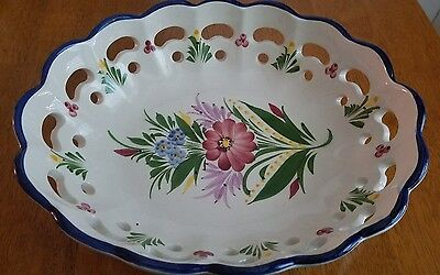 Vintage Handpainted Ceramic Dish Bowl, Portugal VGUC No cracks or stains