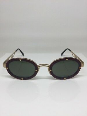 48fe50b98300 New Vintage Moschino Sunglasses MM 3010 C. Burgundy   Gold Valentines Day  Hearts