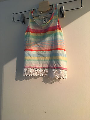 lovely girls fashion H&M sleeveless vest top age 18-24 months