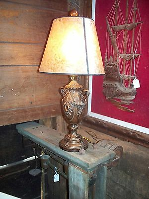 Vintage decorative victorian beaded table lamp beautiful beautiful vintage victorian double handle copper table lamp aloadofball Choice Image