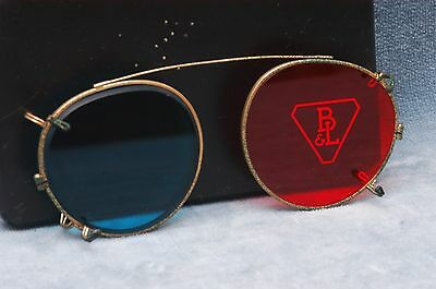 Bausch & Lomb Anaglyph Blue/red Glass 3D Clip-On Glasses