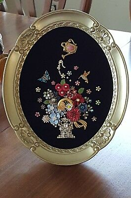 Framed Jewelry Art Flower Arrangement Bouquet,Floral,Home Decor