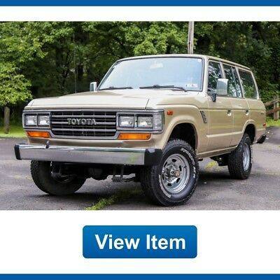 1988 Toyota Land Cruiser  1988 Toyota Land Cruiser FJ62 4x4 4WD Automatic Rare Collectible FJ60
