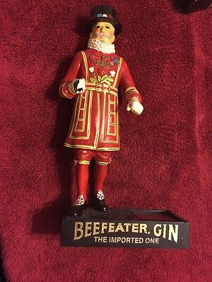 Vintage Beefeather Gin Liquor Bottle Stand Display For Bar Decoration
