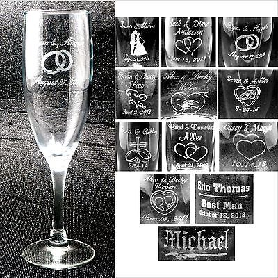Personalized Toasting Flutes - Champange Glasses Engraved Wedding Party Gifts