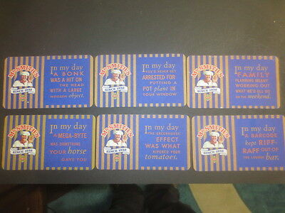 """set of 6 """" Mr Smith,s since 1932 POTATO CRISPS Aust. Issue collectable COASTERS"""