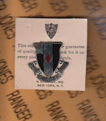"US Army 60th Infantry Regiment NSM 1.25"" crest badge DUI Pinback"