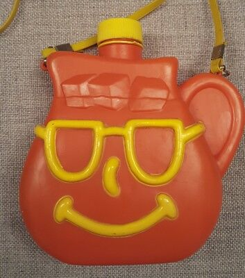 Vintage 1980's kool aid Canteen Pitcher face with strap rare