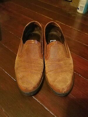 BRAGANO Brown Suede Leather  Loafers Slip On Shoes Men's 10.5