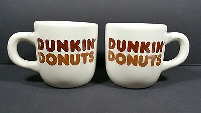 2 Vintage Dunkin' Donuts Coffee Mugs Old Classic Diner Cup Restaurant Ware