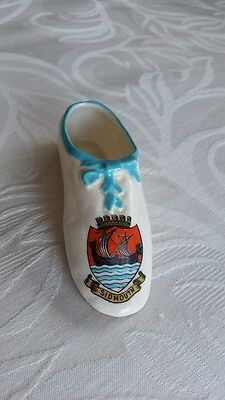 Replica Of Princess Victoria First Shoe, Sidmouth Crest, Wh Goss