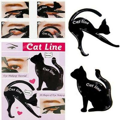 2pcs/10pcs Makeup Cat Eye Eyeliner Stencil Eyeliner Stencil Models Eyebrow Card