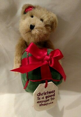 Boyds Bear Sally Shopsalot Christmas Is A Good Excuse Gift Red Bow