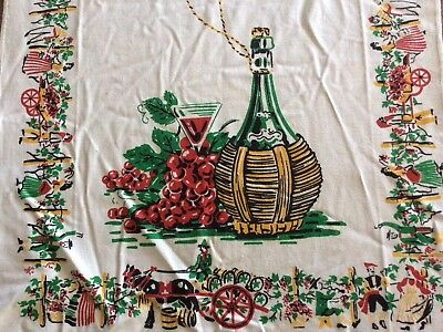 Vintage Linen Tea Towel_New_Wine Country_Vineyard_Boggs And Buhl Tag
