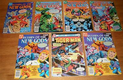 RETURN OF NEW GODS LOT #12,16,17,18,19 +Tiger-Man#3++7 DC COMIC BOOKS