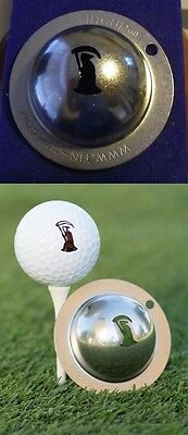 1 only TIN CUP GOLF BALL MARKER -GRIM REAPER - BUY ANY 2  CUPS get special offer