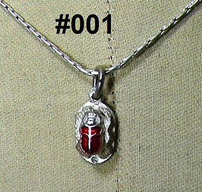 Hallmark Egyptian, Pharaonic, Authentic Silver Pendant S. Scarab Collection.