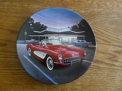 """1957 Red Corvette"" Fab Cars of the Fifties-Bradford Exchange Collector Plate"