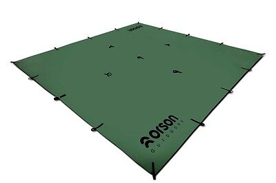 Waterproof Hiking Tarp / Hootchie 3m x 3m with 21 PVC reinforced tie out points