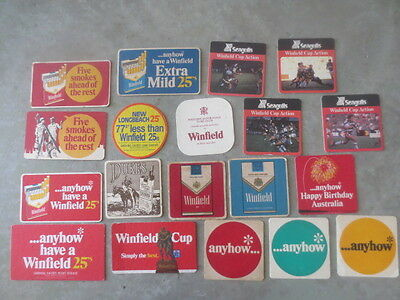 19 different WINFIELD Cigarettes  Issue Advertising Coasters