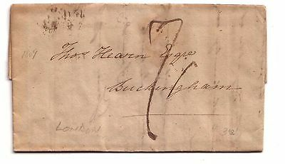 1809 Pre-stamp letter to Buckingham (London)