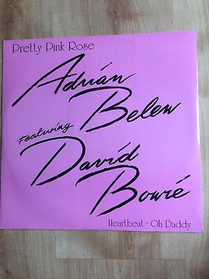 """Adrian Belew & David Bowie - Pretty Pink Rose - Rare 3 Track 12"""" - A7904T"""