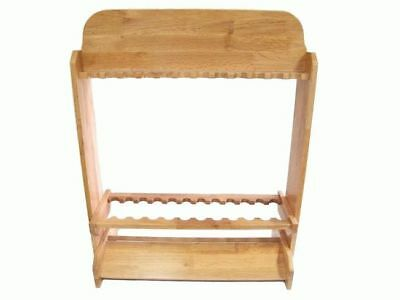 SAMBO Custom Wooden Fishing Rod Rack 24X Holder Stand - Great Storage for Combos