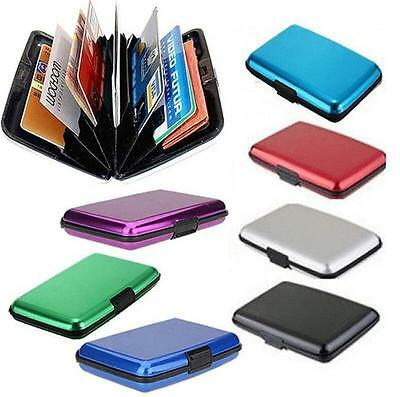 Mens Waterproof Business ID Credit Card Wallet Holder Aluminum Metal Pocket Case