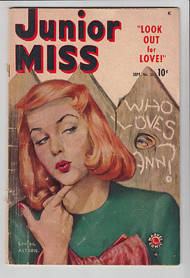 JUNIOR MISS # 36 1949 Timely LOUISE ALTSON PAINTED COVER Cindy  FA-G 1.5 JVJ