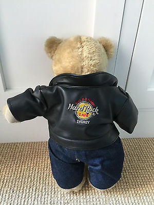 Hard Rock Cafe faux leather jacket Bear Factory jeans & free t-shirt teddy bears