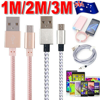 3/6/10FT Braided Micro USB Charger Cable Fast Charge For Mobile Android Samsung