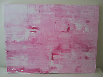Original Abstract painting in pink tones - sold by artist