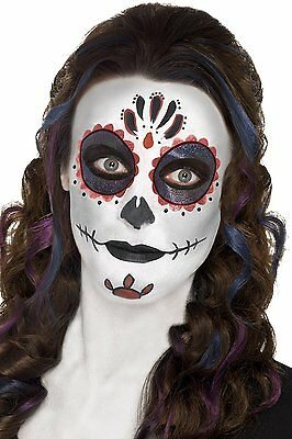 Day of the Dead Make Up Face Paint Kit Fancy Dress Womens Ladies Zombie Ghost