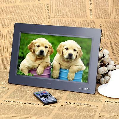 """10"""" HD LCD Digital Photo Frame Picture Clock Movie Player+Remote Contorl US F4J8"""