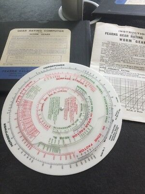 Fearns Gear Rating Computer For Worm Gears