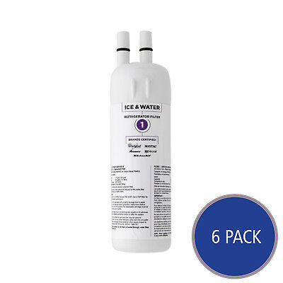 Whirlpool Water Filter Cartridge for Kenmore EDR1RXD1 Filter (6-Pack)