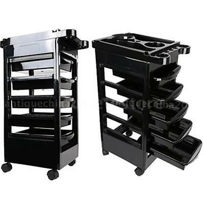 5 Drawers Hairdressing Trolley Cart Barber Storage Station Rolling Casters S4A8