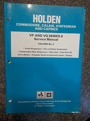 Commodore VP VQ Holden Series 2 Factory service Manual Volume 2