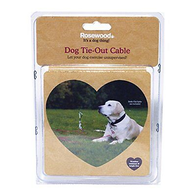 Rosewood Dog TIE OUT Cable 30 ft High Strength Garden Outdoor Secure Dogs Lead