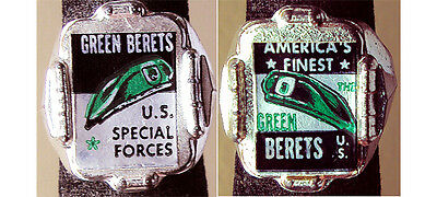 Scarce 1960's Green Beret Gumball Prize Ring Pair