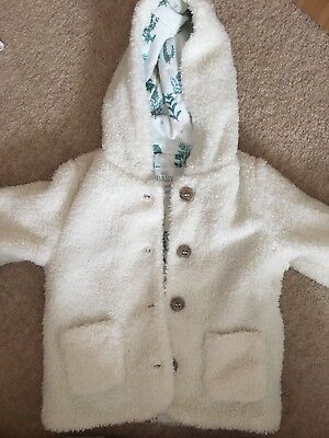 Babies Marks And Spencer Coat, White Color, 6-9 Months , New