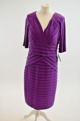UK Seller/ Adrianna Papell Purple Dress/ Size:14/Brand New/Excellent Quality